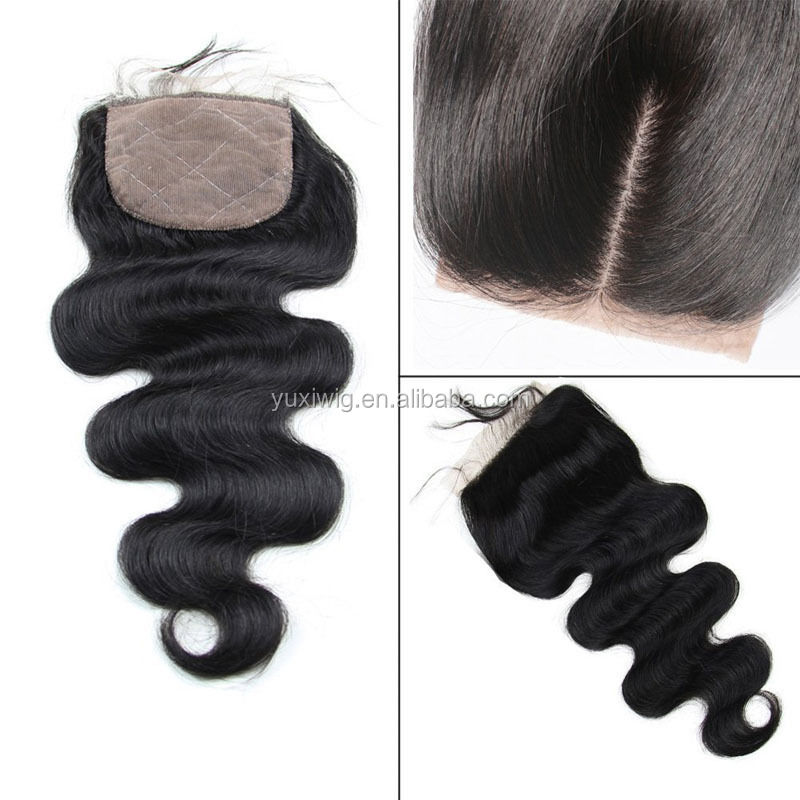 Luxury 4*4 Free/Middle/Three Part Virgin Brazilian Human Hair 6A Lace Closures