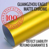 Phenomenal Vehicle Matte Chrome Wrap Of Gold Car Wrapping Film