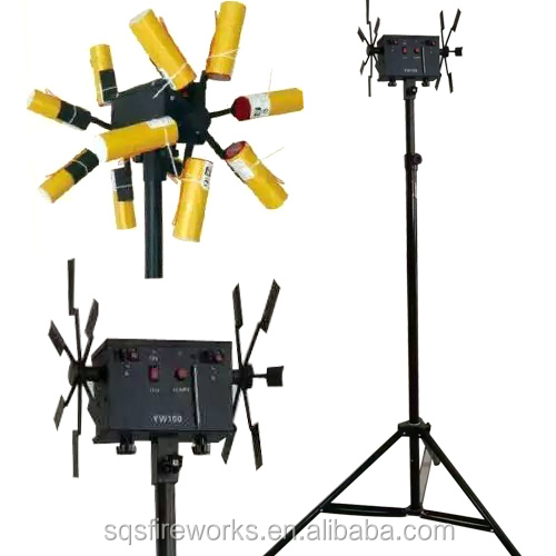 wholesale Double face remote control stage fountain wheel fireworks firing system