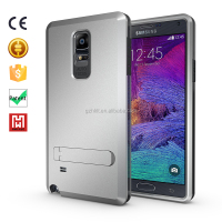 cell phone soft gel case TPU+PC Strong Box Case 3 in 1 kickstand armor cover for galaxy note 4