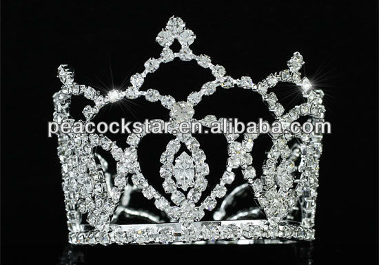 Wholesale Flower Girl / Baby Rhinestone Full Circle Round Mini Tiara Crown CT1743