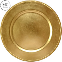 Disposable golden plastic charger plates wholesale
