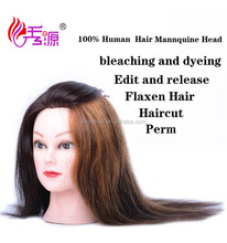 16 inches long time used mannequin head with wig for student,female mannequin head