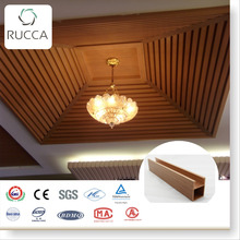 Rucca WPC pop false ceiling designs, laminated pvc panel 60*55mm china wholesale website