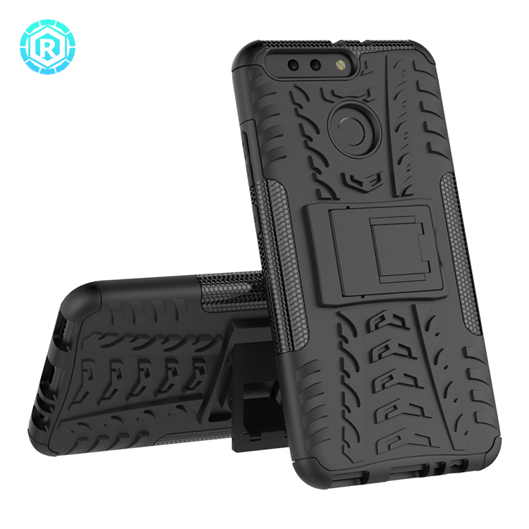 Rugged hybrid dual layer back cover case for huawei honor v9 honor 8 pro tpu case