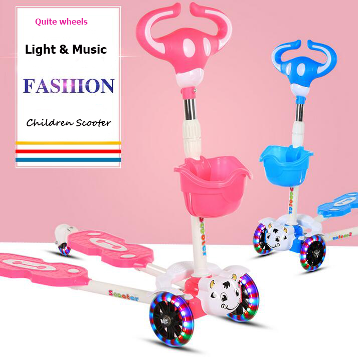 hot selling animal new design kids plastic 4 wheel frog scooter for children scooters toys manufacturer