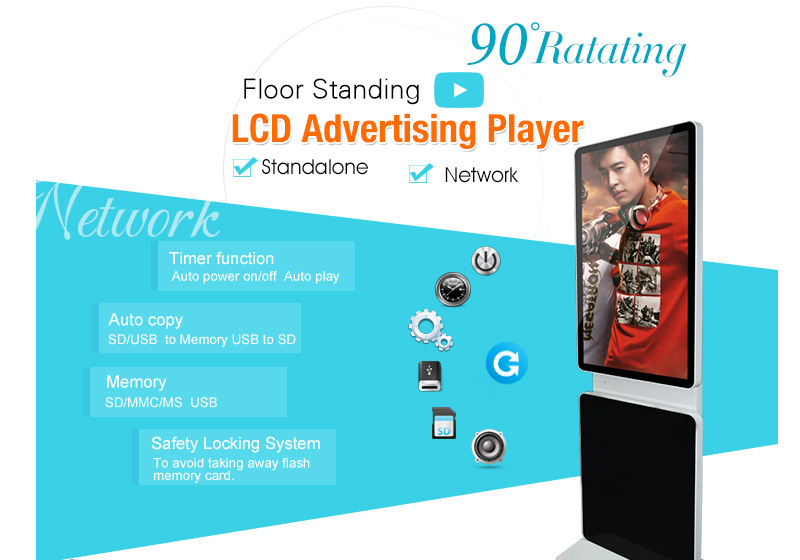 Cheap New 42 inch mupi lcd touch screen display stand digital advertising with tv screen from shenzhen