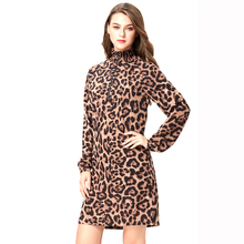 guangzhou clothes leopard print ladies dresses 2018 for woman elegant