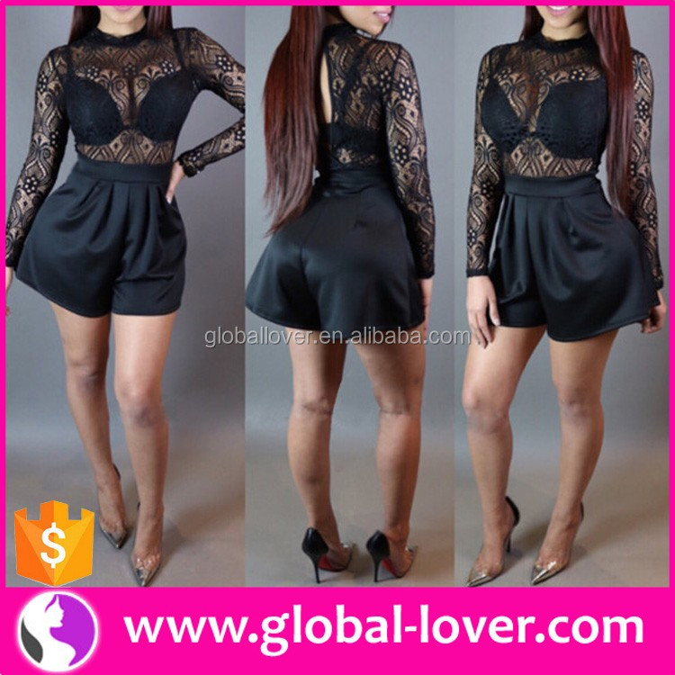 women long sleeve lace transparent mini dresses sexy girl without wearing clothes