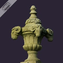 Hand carved large size garden natural stone decorative urn