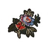 3D rose flower polyester patches embroidery iron on patches wholesale