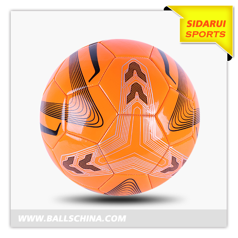 Customize Your Own Cross Stitch PVC PU Foam Leather Soccer Ball With Recyclable Material