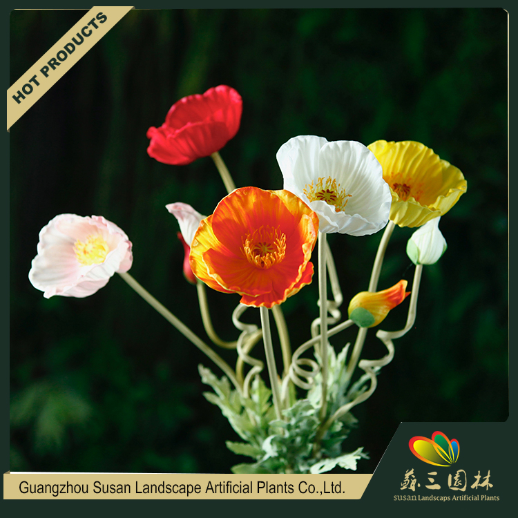 Wholesale artificial real touch plastic red poppy flower bouquet wholesale artificial real touch plastic red poppy flower bouquet fake poppy flower for decoration mightylinksfo