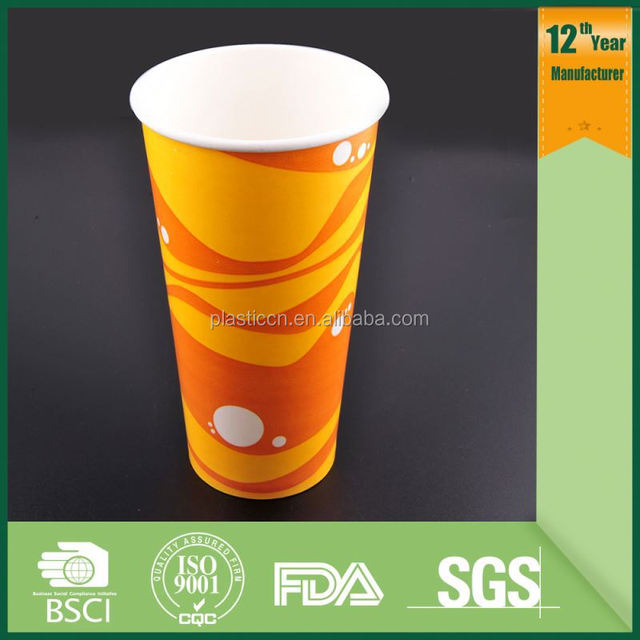 biodegradble single wall paper cup/ biodegradable coffee paper cups/ hot drink paper cups