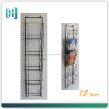 black bookstore metal hanging clipboard paper file display rack HSX-S0249