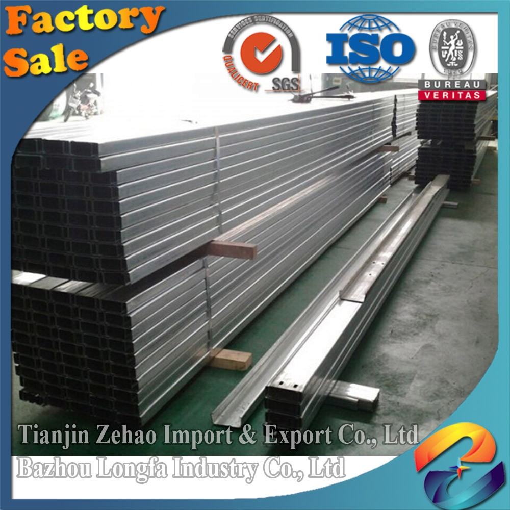 Steel Workshop used Roofing Purlin Q195 Grade Steel C Lip Channel C Profile Section