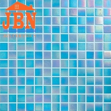 hot melting rainbow color good price swimming pool glass mosaic floor tiles