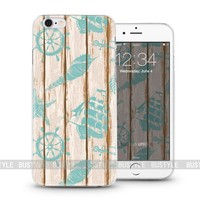 on sailing plastic protective wood case for iPhone 5s or 6plus cover