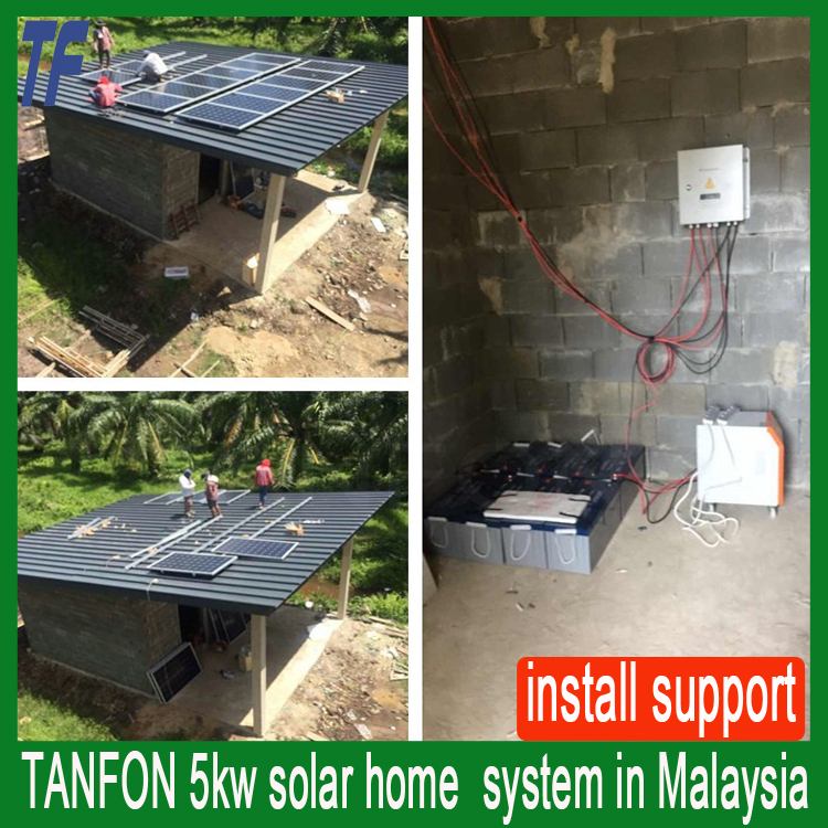 Price of residential application 5kw solar home generator with battery backup solar system
