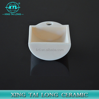 small high temperature resistant porcelain ceramic boat crucible