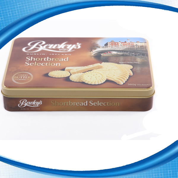 Custom Metal Biscuit Cookie Food Safe Packaging Box Wholesale Walmart Cookie Tin Box