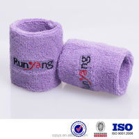 Knitting cotton elastic sports cheap custom wristbands