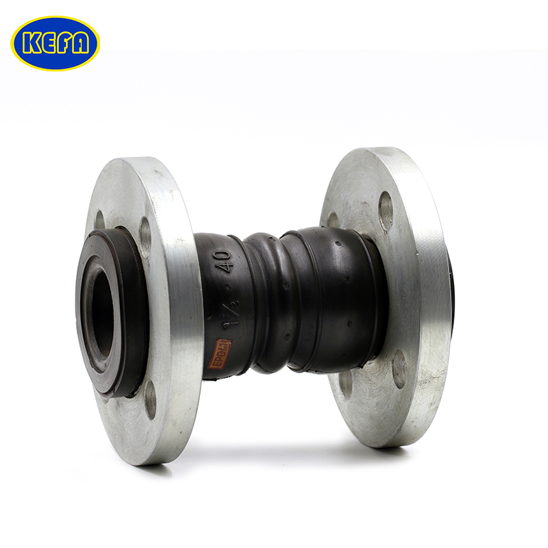 KEFA pn10 double bellow teflon lined rubber flexible expansion joint