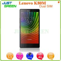cheapest low price china 4G mobile phone 5.5 inch Lenovo K80M In-tel Z3560 Quad Cores android 4.4