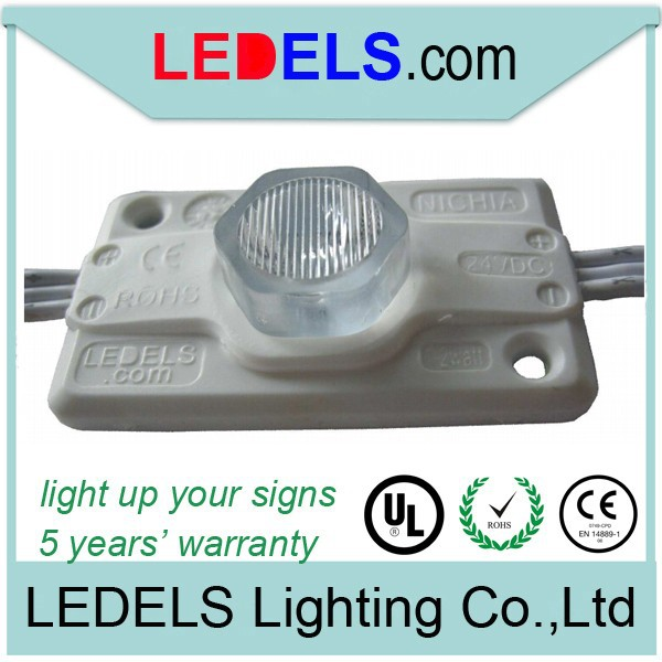 1.2w 120lm high power edge light 24 volt led module with UL certificate