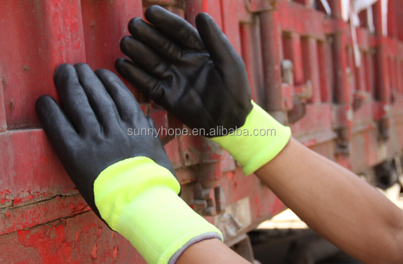 SUNNYHOPE winter safety work nitrile coated gloves for cutting