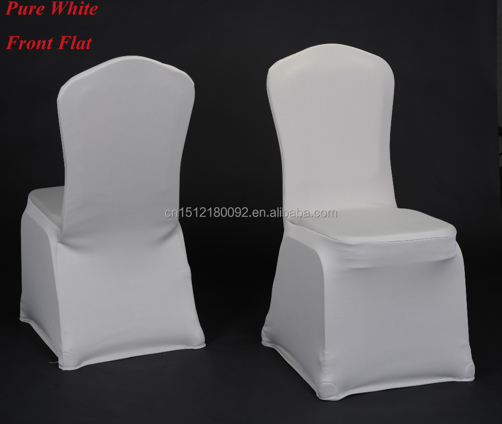 Factory Hotel/<strong>wedding</strong>/Banquet supplies spandex fabric lycra chair cover - White