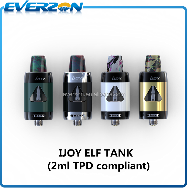 iJoy ELF Tank with Resin Drip Tip and 0.7ohm 0.5ohm ELF Coils 2ml TPD Compliant iJoy ELF Atomizer Sub Ohm Tank