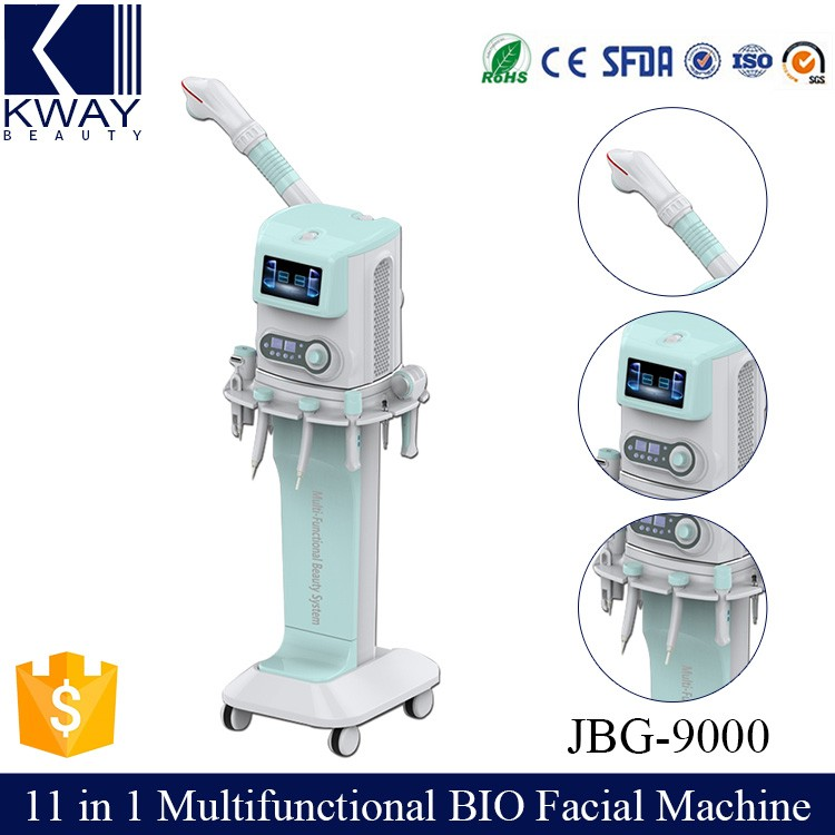 Beauty Salon Vaporizer Facial Supersonic Massage wrinkle removal Beauty Machine / 11 in 1 Multifunction Beauty Equipment