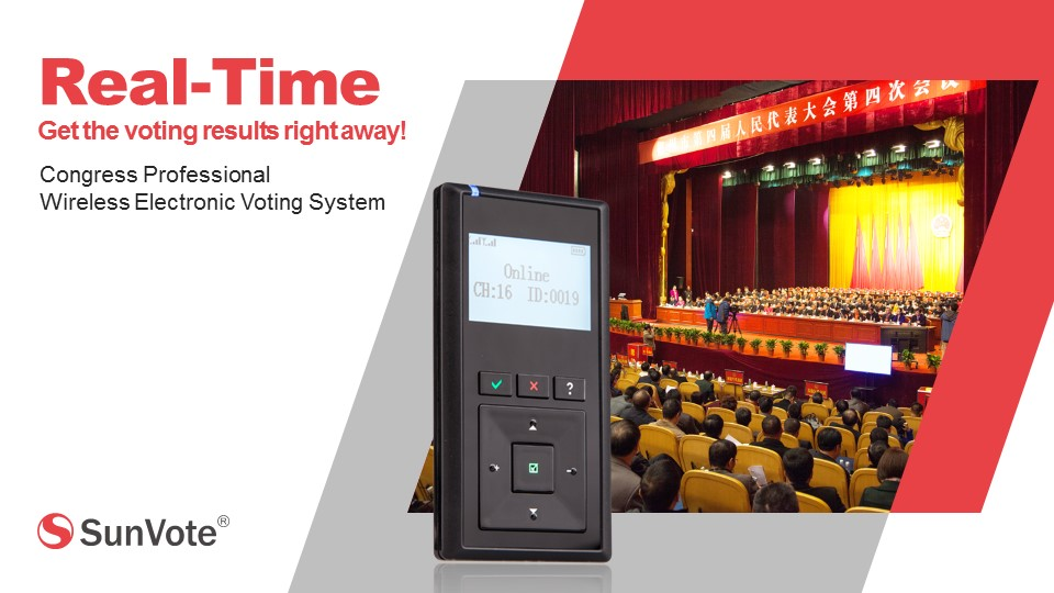 portable voting keypad for government conference