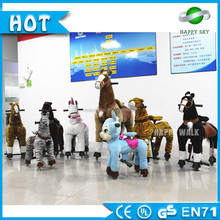 Hot selling!! Kids amusement park rides indoor animal ride for mall mechanical animal rides on plush horse