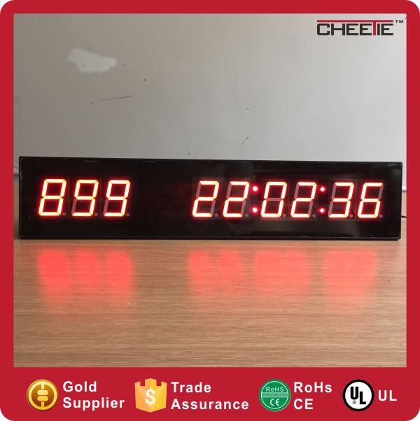 OEM Design Promotion Electronics Programmable LED Digital Count up Timer Projection Clock Countdown
