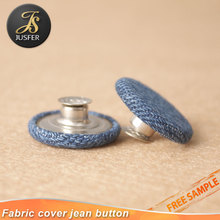 Nickel free custom metal round button jean button covering clothing