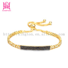 hong kong mirco pave real gold plated chains jewelry wholesale NSB886