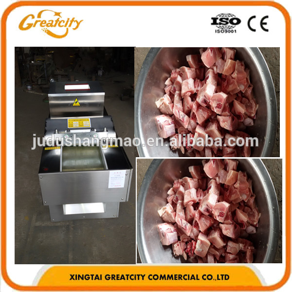 New Design Automatic Chicken Frozen Meat Cutting Machine/ Fresh and Frozen Meat Cubes Cutting Machine