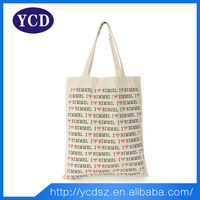 supermarket white canvas fancy shopping bag