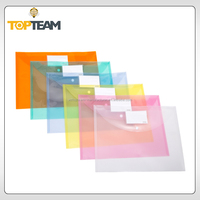 clear plastic file envelopes, cheap document wallet wholesale, PP transparent bag for school