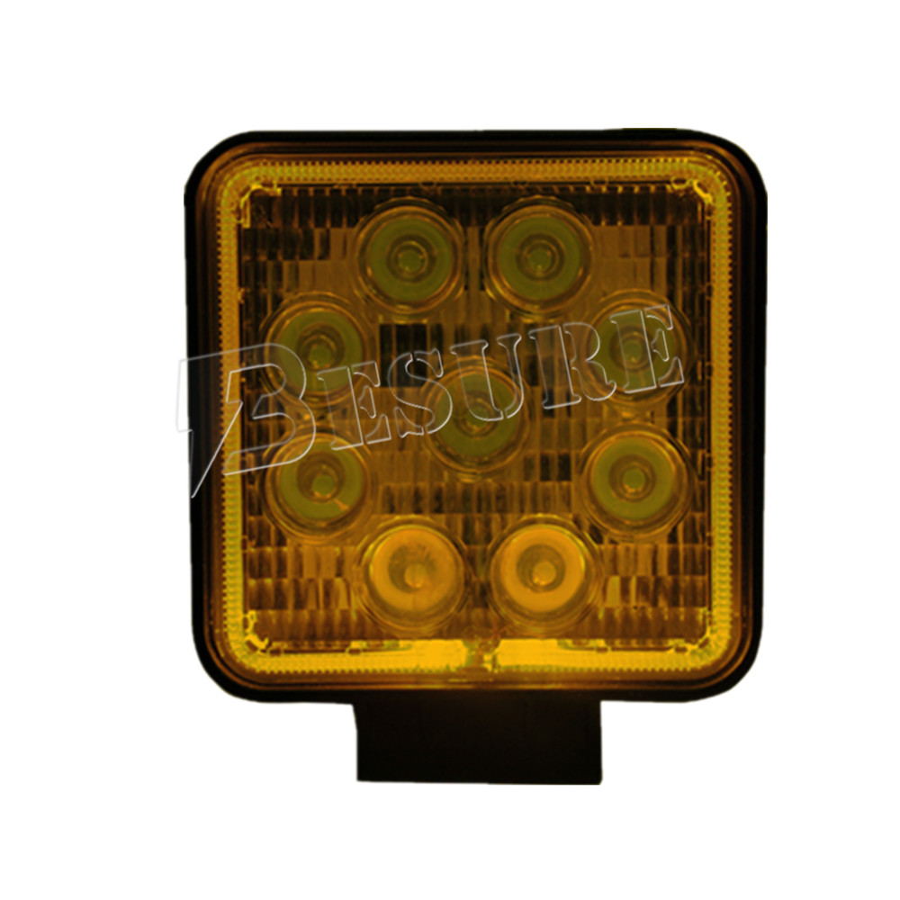 Clearance Price Auto Accessories 12V 27 Watt LED Offroad Work Lamp IP67 ISO9001 Certificate Car Spot/Flood Driving Light for VW