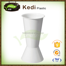 Hot selling plastic handmade garden decoration concrete flower vase