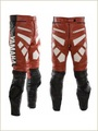Leather Motorbike Trouser(Motorbike Leather Pants ) Black Red White