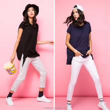 Wholesale OEM lady striped cotton pants,ladies sexy tight striped pants