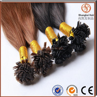 Factory wholesale human hair 7A Double Drawn Pre Bonded Flat Tip Hair Extension