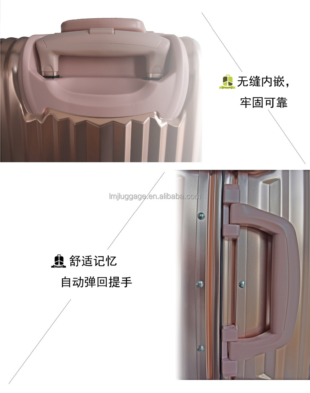 new Brand new aluminum metal luggage hard suitcase with metal frame high quality corner protector multiple colors