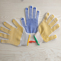 pvc dotted cotton gloves Safety Products Elastic and Comfortable Labor Protection Gloves