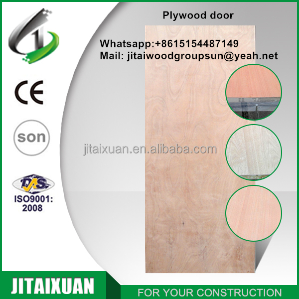 2017 china low price economical plywood doors rustic interior