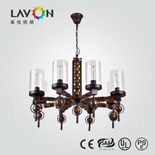 2015 new design pendant lights with wooden body CE approved chanderlier